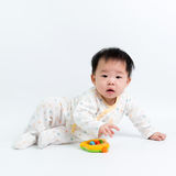 Asian baby with toy Royalty Free Stock Images