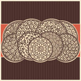 Asian background. Vector authentic background with traditional asian hand drawn ornaments Stock Photos