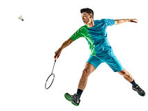 Asian badminton player man isolated Stock Image