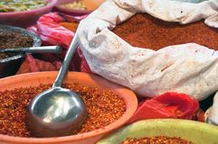 Asian bag of spices Royalty Free Stock Image