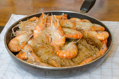 Asian baked shrimp Stock Photography