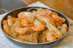 Asian baked shrimp Royalty Free Stock Images