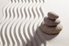 Asian balance designed with stones Royalty Free Stock Photos