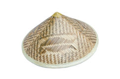 Asian bamboo conical hat isolated Royalty Free Stock Photos