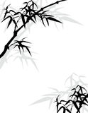 Asian bamboo frame Royalty Free Stock Photography