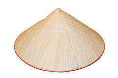 Asian bamboo hat over white Stock Images
