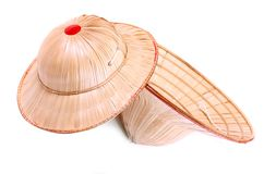 Asian bamboo hats. Royalty Free Stock Photo