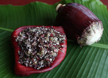 Asian Banana Flower salad Royalty Free Stock Images