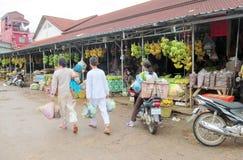 Asian banana market Stock Photo