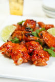 Asian Barbecued Chicken Wings Stock Images