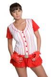 Asian Baseball Woman Stock Image