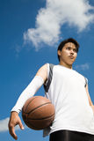 Asian basketball player Royalty Free Stock Images