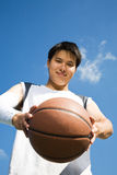 Asian basketball player Stock Photography