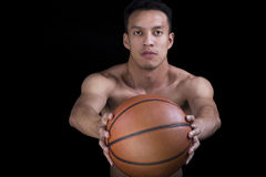 Asian  basketball player Royalty Free Stock Photo