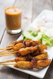 Asian bbq skewer Royalty Free Stock Photo