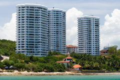 Asian beach apartments Royalty Free Stock Images
