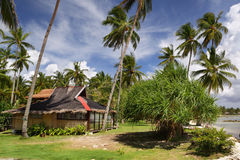 Asian beach holiday cottage Stock Image