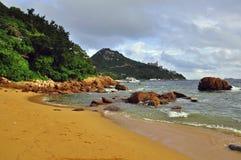 Asian beach. Hong-Kong, China Royalty Free Stock Photography