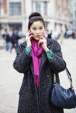 Asian beautiful girl calling by phone Stock Photo