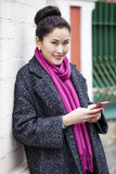 Asian beautiful girl calling by phone Stock Image