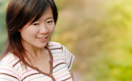 Asian beautiful girl in the outdoor Royalty Free Stock Photography