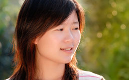 Asian beautiful girl in the outdoor Royalty Free Stock Image