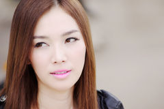 Asian Beautiful girl03. Face of Asian beautiful girl Royalty Free Stock Photos