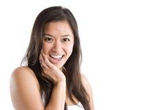 asian beautiful happy woman Στοκ φωτογραφία με δικαίωμα ελεύθερης χρήσης