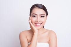 Asian beautiful woman skin care Royalty Free Stock Image