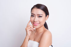 Asian beautiful woman skin care Stock Images