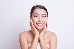 Asian beautiful woman skin care Stock Photography