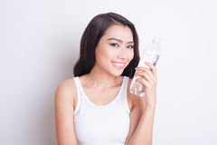 Asian beautiful woman skin care Royalty Free Stock Images