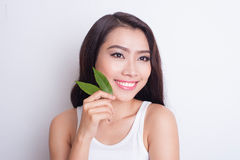 Asian beautiful woman skin care stock image