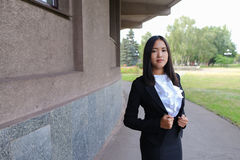 Asian beautiful young business woman, student posing for camera, Royalty Free Stock Images