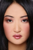 Asian beauty. Close-up portrait of beautiful asian girl with stylish makeup Stock Photo