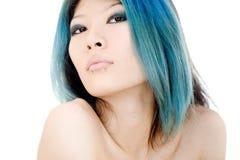 Asian beauty. High key portrait of beautiful Asian girl stock photo