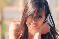 Asian Beauty. Young Asian Beauty with lovelly smile royalty free stock photography