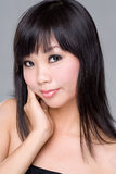 Asian beauty. Beautiful asian woman face expression Stock Photography