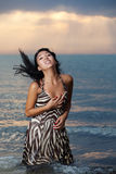 Asian beauty on the beach Stock Photos