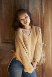 Asian Beauty In Comfortable Sweater Stock Photos