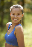 Asian Beauty Exercising Stock Images