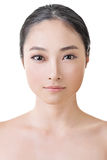 Asian beauty face. Closeup portrait with clean and fresh elegant lady. Studio shot Royalty Free Stock Image