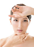 Asian beauty face Stock Photo