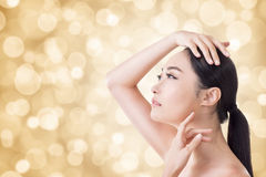 Asian beauty face stock image