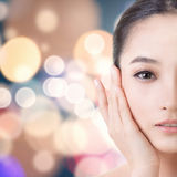 Asian beauty face Stock Photo