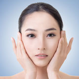 Asian beauty face. Concept of glamour, makeup, healthcare etc Stock Photo