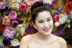 Asian beauty face portrait with clean and fresh elegant lady Stock Photo