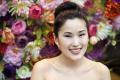 Asian beauty face portrait with clean and fresh elegant lady Royalty Free Stock Image