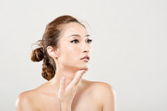 Asian beauty face portrait Royalty Free Stock Images