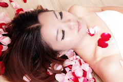 Asian beauty Girl close her eyes Stock Photography